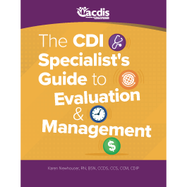The CDI Specialist's Guide to Evaluation and Management