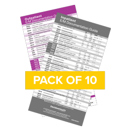 2022 E/M Documentation Quick Reference Card Set (10 pack)