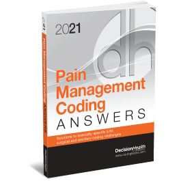 2021 Pain Management Coding Answers