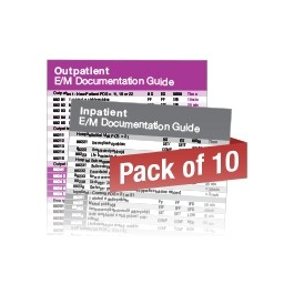 2020 E/M Documentation Quick Reference Card Set (10 pack)