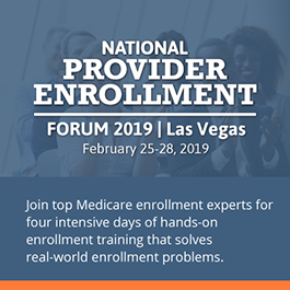 National Provider Enrollment Forum 2019