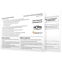 Patient Status Pocket Cards for Physicians
