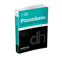 2022 Plain English Descriptions for Procedures