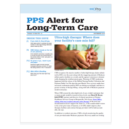 PPS Alert for Long-Term Care